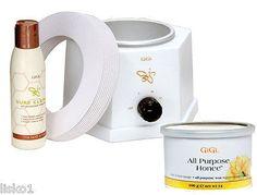 GIGI #0210 14 oz. Wax Warmer w/14 oz can of Honee Wax & 10 warmer collars LMS