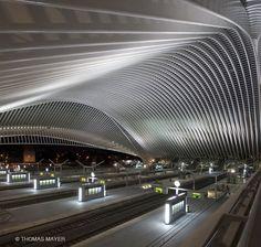#Liege_Guillemins #railway_station in Belgium by #Santiago_Calatrava. Photographers Thomas Mayer