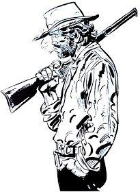 "Blueberry, uma Lenda do Oeste: ""Lucky Luke, Blueberry. e gli altri"" - Parte 2 Jean Giraud, Lucky Luke, Western Comics, Western Art, Moebius Art, Character Art, Character Design, Bd Art, Deadshot"