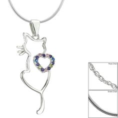 I Love Cats Sterling Necklace at The Animal Rescue Site
