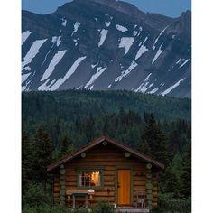"""A peaceful scene to end a busy day of exploring, as dusk settles over a mountain cabin in Assiniboine Provincial Park.""  Photo and caption by @paulzizkaphoto via Instagram #exploreBC #exploreCanada"