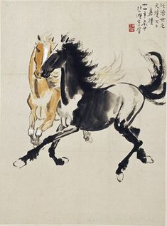 https://flic.kr/p/69ffqw | 徐悲鸿_双马图 | Painted by Xu Beihong View paintings, artworks and galleries at Chinese Art Museum. Learn about Chinese history and art at China Online Museum.
