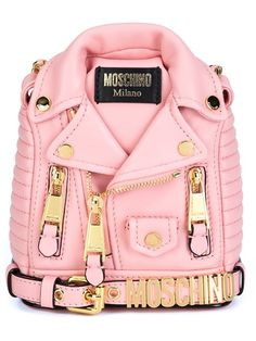 Shop Moschino mini biker jacket backpack in Vitkac from the world s best  independent boutiques at farfetch 54274b6d95