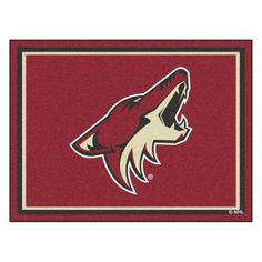 Fan Mats NHL Hockey Indoor Area Rug - 17524 Vancouver Canucks Logo, Phoenix Coyotes, Plush Area Rugs, Arizona Coyotes, Sports Shops, Mat 10, Rectangular Rugs, Mlb World Series, Hockey Teams