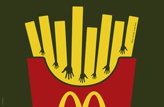 The Print Ad titled McD Fries Hands was done by Heye & Partner Munich advertising agency for McDonald's in Germany. Advertising Awards, Advertising Space, Creative Advertising, Advertising Design, Working At Mcdonalds, Fries, Typo Logo, Typographic Logo, Great Ads