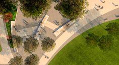rendered aerial, Shoemaker Green, Andropogon Associates, University of Pennsylvania