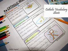 Learning Catholic Words and Meanings {Vocabulary Notebook Pages} - Catholic Inspired
