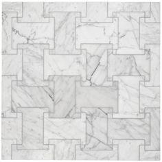 Block I mosaic carrara tile.
