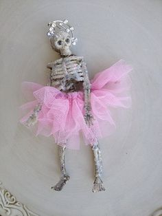 Gorgeous Ballerina Skeleton Halloween Decoration by JeanKnee,
