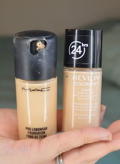 Foundation Showdown: MAC Pro Longwear vs Revlon Colorstay I Love love love the buildable way of the revlon! Not cakey or heavy! The matte wear lasts all day!
