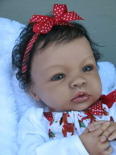 "CUSTOM Reborn AA Ethnic Biracial Indian Caucasian Baby ""Shyann"" Doll 1/2 Down 