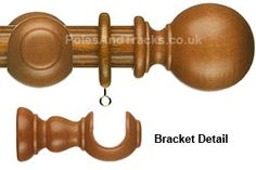 Sienna and Teak Pole sets with Ball finials Wooden Curtain Poles, Decorative Bells, Teak, Detail, House, Home Decor, Curtains, Homemade Home Decor, Haus