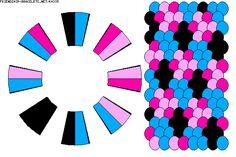 K4335 - friendship-bracelets.net Strings: 16 Colors: 4