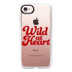 Wild At Heart [Red] - iPhone 7 Case And Cover ($40) ❤ liked on Polyvore featuring accessories, tech accessories, iphone case, iphone cover case, clear iphone case, iphone cases, red iphone case and apple iphone case