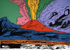 Volcano: Turner to Warhol Vesuvius by Andy Warhol, Naples, Museo di Capodimonte. © Photo Scala, Florence – courtesy of the Ministero Beni e Att. Pop Art Andy Warhol, James Rosenquist, Photos Voyages, Art Icon, Art Moderne, Arte Pop, Alphonse Mucha, American Artists, Caravaggio