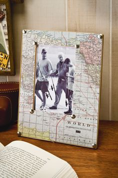 PHOTO Map frame FROM VACATION MAP--OR USE FOR SCRAPBOOK PAGE