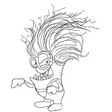 coloring pages of purple minions - photo#21