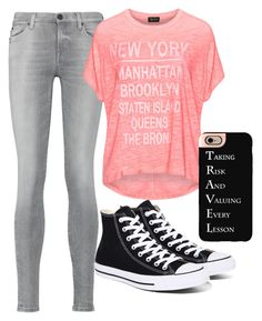 """""""Travel"""" by emmafetzer on Polyvore featuring 7 For All Mankind, Replace, Casetify and Converse"""