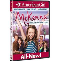 An American Girl: McKenna Shoots for the Stars (Blu-ray + DVD + Digital Copy + UltraViolet) Includes Blu-Ray, DVD, and Digital Copy. Running Time Perfect Hi-Def Picture, Perfect Hi-Def Sound Kerris Dorsey, American Girl Mckenna, Nia Vardalos, Ian Ziering, Young Gymnast, Making The Team, Gymnastics Team, New Friendship, Shooting Stars