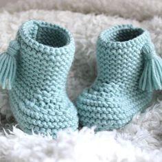 Chaussons avec pompons tout doux pour bébé, fait main en laine mérinos, fabriqué en France