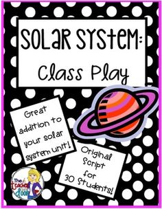 This play is filled with good scientific information but even better, it's entertaining and fun! Summary of the Play: The Sun thinks he/she is the most important thing in the Solar System and isn't afraid to let everyone know it. With the guidance of each planet, (including Venus, the diva and Saturn, the surfer) and each solar system object, the Sun realizes in the end, that each planet, moon, asteroid, comet, etc. has value. (TpT Resource)