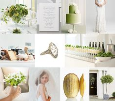 Our colors: Crisp White & Green with a touch of peach