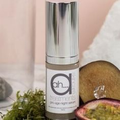 Anti-age Night Serum.  Packed with essential fruit acids to revive your skin overnight.