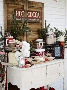Hot chocolate bar with printables hot chocolate bars bar and cute idea for a winter wedding for non dairy guests almond milk would junglespirit Choice Image