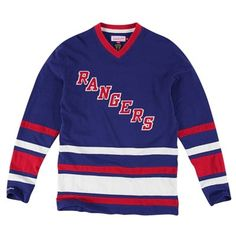 Mens New York Rangers Mitchell  amp  Ness Royal Blue 1st Period Long Sleeve  T- 85724921f