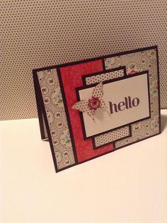 Handmade card, everyday enchantment, with beau chateau.