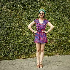 Photo Credit: PJ Kotze Model: Roxanne Ferreira H&M striped playsuit, and H&M teal bowler hat!