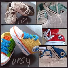 Tennis shoes crochet