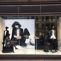 Signage + graphics make this @karllagerfeld London window pop #windowswednesday #storewindows #lagerfeld #retail #retaildesign #vm #visualmerchandising #visualmerchandiser #vmlife Pic by @lucylondon_llfa