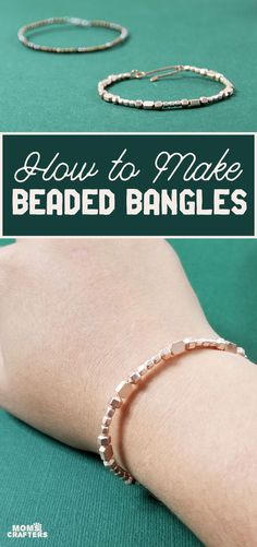 Click to learn how to make beaded bangles from scratch! Fun beading ideas for beginners and jewelry making crafts for teens. Making Jewelry For Beginners, Jewelry Making, Crafts For Teens, Crafts To Make, Diy Fashion Accessories, Bangles, Bracelets, Beading Ideas, Jewlery