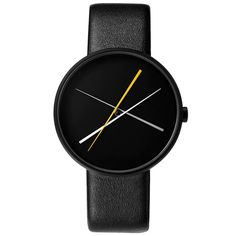 Watches// Crossover (black) watch by Projects. Available at Dezeen Watch Store: www.dezeenwatchstore.com