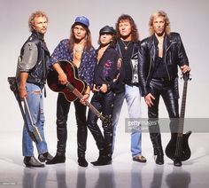 German rock band The Scorpions poses for a portrait in 1992 in Los...