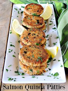 Salmon Quinoa Patties - These delicious little superfood charged salmon patties deliver taste and nutrition in a recipe the whole family will love. From www.bobbiskozykitchen.com