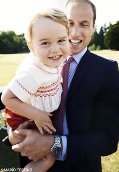 Prince George and Prince William July 5, 2015