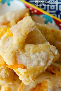 Peach Kuchen Recipe | reluctantentertainer.com