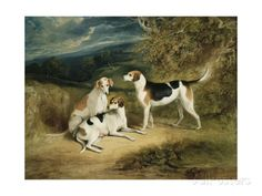 The Duke of Rutland's Hounds with Belvoir Castle in the Distance, 1828 Giclee Print by Henry Perlee Parker - AllPosters.ca