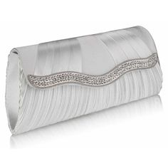 The Ava Luxury Satin Clutch Handbag- Ivory Also available in Silver, Black and Navy. See it here http://www.happyweddingday.co.uk/collections/bags/products/ada-luxury-crystal-satin-clutch-handbag