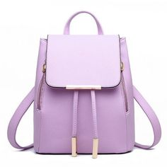 Women Backpack PU Leather Mochila Escolar School Bags For Teenagers Girls Leisure Backpacks Daypack Rucksack Travel Shoulder Bag Sling Backpack Purse, Mini Backpack, Ladies Backpack, Tote Bag, Cute Leather Backpacks, Fashion Bags, Fashion Backpack, Fashion Women, Fashion Top