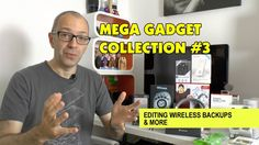 """Geekanoids' """"Mega Gadget Collection #3 - Editing Wireless Backups & More"""" featuring the UNIEA Colorama iPhone 5 case. Take a look at: http://www.uniea.com/p/103/lime-green-iphone-5-folio-case-colorama"""