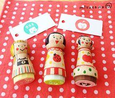 Mizutama stamp dolls
