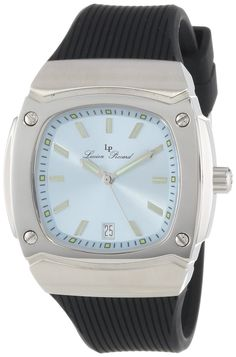Lucien Piccard Women's LP-440-012 Armada Light Blue Dial Black Silicone Watch *** Click on the watch for additional details.