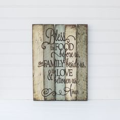 RESERVED FOR BRANDY Family Prayer rustic wooden sign by ACEandAVY