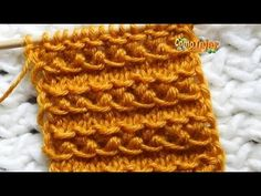 Cómo Tejer Diseño Bordado para Suéter y Gorro. Embroidered Sweater Design. 2 agujas(709) - YouTube Knitting Stiches, Crochet Stitches, Baby Knitting, Crochet Patterns For Beginners, Knitting For Beginners, Baby Blanket Crochet, Crochet Baby, Knitting Designs, Knitting Patterns