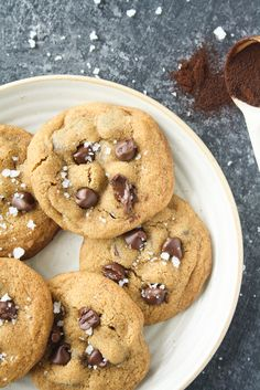 Chewy buttery chocolate chip cookies