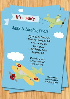 Airplane birthday party invitation come fly with me party airplane birthday party invitation filmwisefo Choice Image