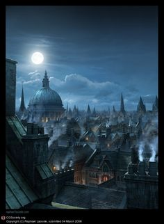 Title: London Rooftops, Matte Painting Name: Raphael Lacoste